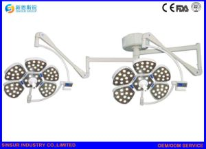 Hospital Equipment Shadowless LED Ceiling Mounted Double Head Operating Light pictures & photos