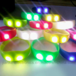 Party Colorful LED Blinking Bracelet with Logo Print (4010) pictures & photos