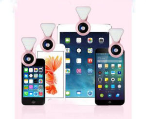 0.4X-0.6X Wide-Angle and Charging Mobile Phone Lens 035 Fill Light pictures & photos