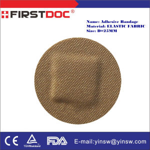 D=25mm Round Band-Aid Flexible Fabric Adhesive Bandages pictures & photos