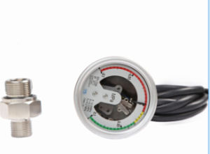High Quality 4 Inch Stainless Steel Electric Contact Sf6 Gas Manometer