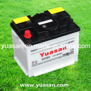 Factory Supplied Top Quality 12V55ah Dry Charged Lead Acid Battery --55565