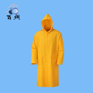 Hot Sell PVC / Polyester Coating Rainwear with Hood pictures & photos