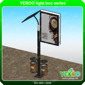 Solar Street Lamp Pole Light Box Road Sign with Trash Can pictures & photos