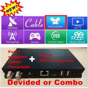 The Newest Android Satellite Receiver Combo with Mini IPTV pictures & photos
