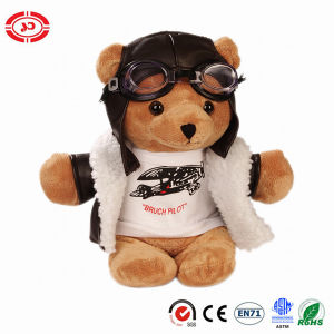 Quality Stuffed Pilot Teddy Bear with Gaggle Cute Kids Toy pictures & photos