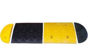 Road Safety Rubber Hump with Black and Yellow Color pictures & photos