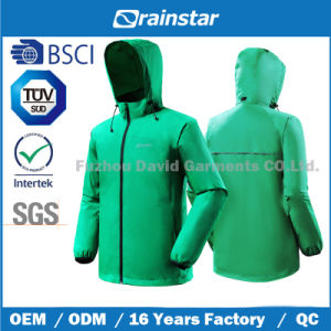 Packable Classic Green Rain Jacket