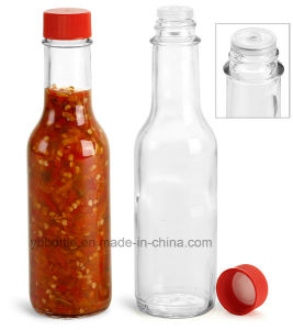 150ml Chili Sauce Clear Glass Bottles with Plastic Cap pictures & photos