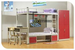 Factory Manufacture School Dormitory Steel Frame Bunk Bed pictures & photos