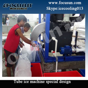 Focusun 20ton Tube Ice Machine with Automatic Ice Bagging Machine pictures & photos