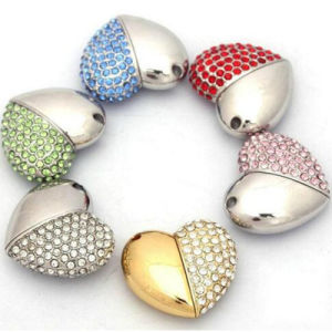 Beautiful Heart-Shaped Jewelry USB Flash Drive pictures & photos
