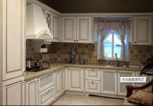 American Style White Kitchen Cabinet pictures & photos