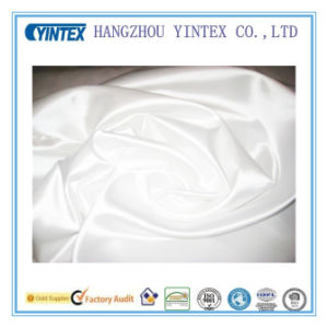 Pure White100% Polyester Satin Fabric for Home Textiles pictures & photos