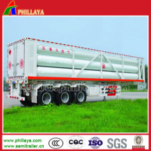 Three Axis Tank Container CNG Tube Skid Semi Trailer pictures & photos