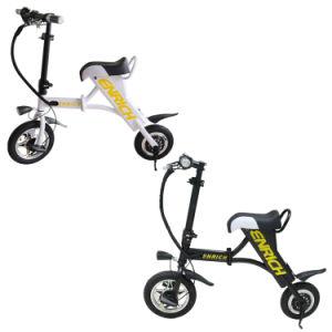 White / Black 2 Wheel Mini Electric Bike Fodable
