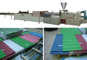 PVC/PC/PP/Pet Corrugated Sheet Extrusion Line pictures & photos