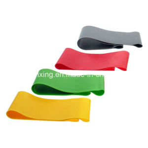 4PCS Resistance Loop Band Exercise Yoga Bands Rubber Fitness Training Bands pictures & photos