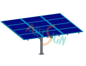 9 Panels Single Pole Water Pump Solar Ground Mounting System pictures & photos