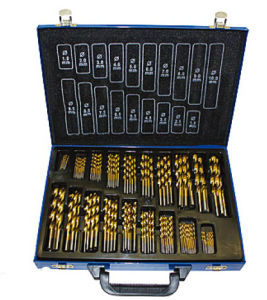 170PCS DIN338 HSS Twist Drill Bit in Metal Case pictures & photos