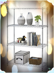 Adjustable Double Sided Wrought Iron Book Rack Shelf, NSF Approval pictures & photos