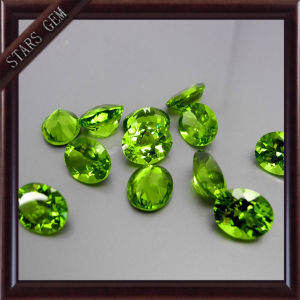 Oval Shape Bling Bling Good Quality Natural Peridot for Jewelry Setting pictures & photos