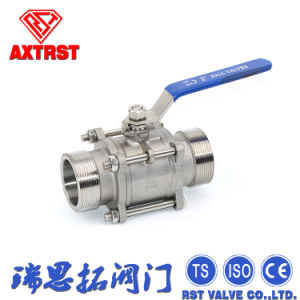 NPT Male Thread 3PC Stainless Steel Floating Ball Valve pictures & photos
