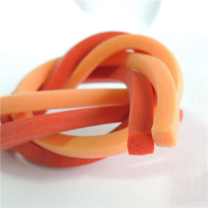 Extruded Silicone Rubber Sponge Profile Silicone Strip pictures & photos