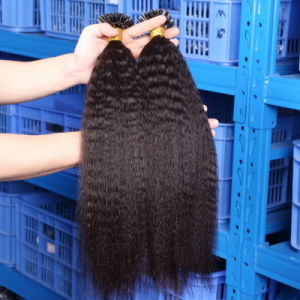 Flat Tip Hair Extensions Pre Bonded Keratin Glue Fusion Hair Extensions Indian Remy Colorful Human Hair Pieces Colour 1b# pictures & photos