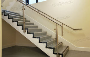 Interior Staircase Side Mounted Steel Glass Railing pictures & photos