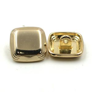 Shiny Square Metal Shank Button for Suit pictures & photos