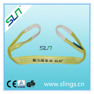 2017 3tx1m Yellow Polyester Webbing Sling Safety Factor 7: 1 pictures & photos