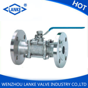 Stainless Steel 304/316 3PC Ball Valve with Flange