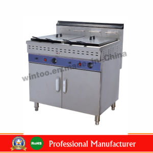 Commercial Luxury Standing Style Gas Fryer for 2015 Top-Rated Sale (WGF-482/C) pictures & photos