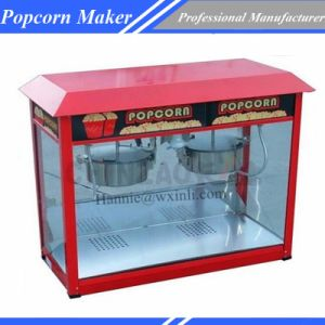 Double Pots Large Capacity Electric Popcorn Maker Snack Machine Chz-6A2 pictures & photos