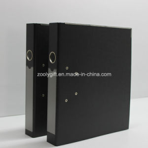Blue / Black A4 PP Lever Arch File Folder with Metal Edge Protector and Spine Label Pocket pictures & photos