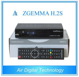 Zgemma H. 2s Enigma2 Linux Sky TV Box Twin Tuner HD DVB S/S2 Satellite TV Receiver Box pictures & photos