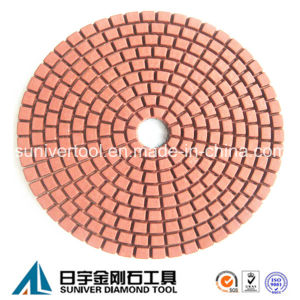 Red Color Standard Wet Use Diamond Polishing Pad pictures & photos