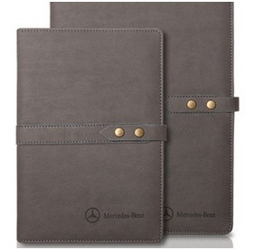 Leather Business Notebook, PU Notebook Custom with Buckle