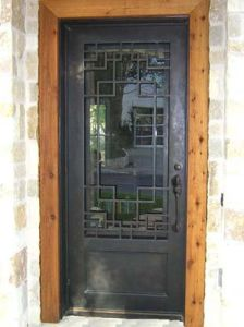 2016 Fashion Operable Flemish Glass Wrought Iron Single Doors (UID-S068) pictures & photos
