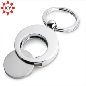 Metal Material Trolley Coins Printed Logo with Ring pictures & photos