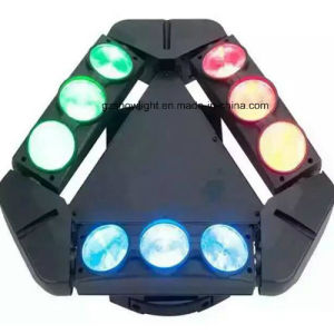 9PCS*10W CREE RGBW Mini 4in1 Triangle Moving Head Spider Light pictures & photos