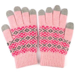 Lady Fashion Wool Knitted Touch Screen Magic Warm Gloves (YKY5438) pictures & photos