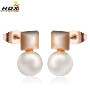 Fashion Jewelry Stainless Steel Pearl Earring pictures & photos