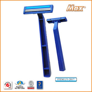Twin Stainless Steel Blade Disposable Razor Fro Man (LY-2017) pictures & photos