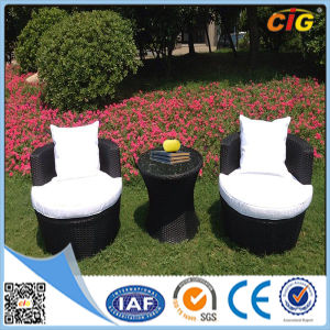 White and Black 3PC Outdoor Garden Line Patio Furniture pictures & photos