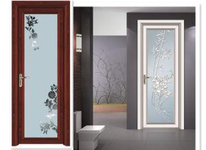 Tinted Tempered Glass Aluminum Casement Door pictures & photos