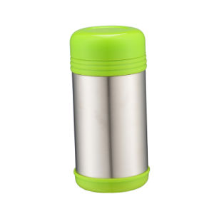 1000ml Colorful Stainless Steel Food Jar Green pictures & photos