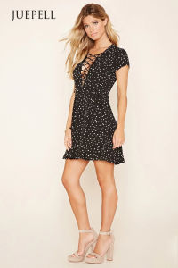 Wyldr Lace-up Mini Dress pictures & photos