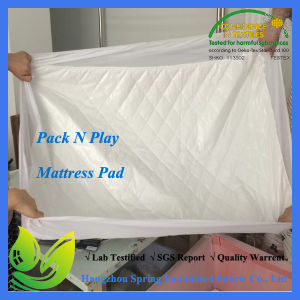 "Bamboo Waterproof Crib Mattress Pad with Deep Skirt - 28"" X 52"" pictures & photos"